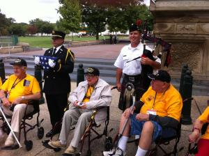 Honor Flight Vets In Washington DC 091014