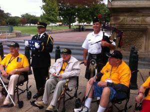 Honor Flight Vets In Washington DC 091014